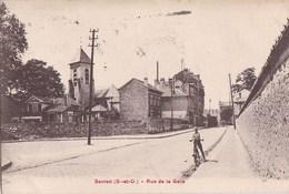93 SEVRAN  Coin Du VILLAGE  ENFANT à VELO Rue De La GARE Maisons EGLISE  Timbre 1934 - Sevran