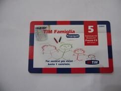 RICARICA TELEFONICA USATA TIM  FAMIGLIA - Italia