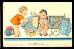 Hol Lehet A Hiba ...? / Postcard Circulated, 2 Scans - Künstlerkarten