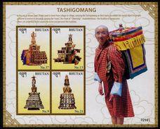 BHUTAN 2016 - Religion, Moines, Clochettes Tashigomang - Feuillet Neufs // Mnh - Bhutan