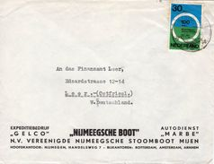 1963  Envelop Met Firmalogo Van NIJMEGEN Naar Leer - Poststempels/ Marcofilie