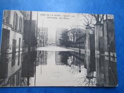 HAUTS DE SEINE    92     PUTEAUX   -   CRUE DE JANVIER 1910   -  RUE BELLIENI               TTB - Puteaux