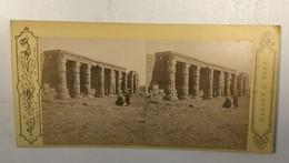 EGYPT     Stereo Photo Photo Stéréoscopique  Constantinople P. SEBAH - Stereoscopic