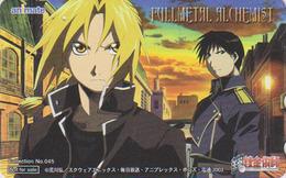 Télécarte Japon / 110-016 - MANGA - FULL METAL ALCHEMIST - Série ANIMATE N° 045  Japan Phonecard / Fullmetal - NFS 9489 - Stripverhalen