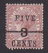 British Honduras, Scott #35, Mint Hinged, Victoria Surcharged, Issued 1891 - British Honduras (...-1970)