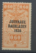 J.4 **  60c  Coté 3,50    Beau Et Frais - Zeitungsmarken
