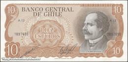 TWN - CHILE 143b - 10 Escudos 1976 Serie A 13 - Signatures: Cano & Molina UNC - Cile