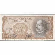 TWN - CHILE 143b - 10 Escudos 1976 Serie A 16 - Signatures: Cano & Molina UNC - Cile