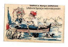 Chromo  TAPIOCA JAPONAIS   Couple Et Chien   Canot - Chromos