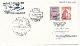 DANEMARK - Enveloppe Foire De Leipzig - 50eme Anniversaire Vol Spécial - 1969 - Aéreo
