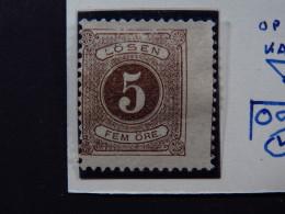 Stamp Sverige Sweden Fem 5 Öre Lösen Plate Error - Postzegels