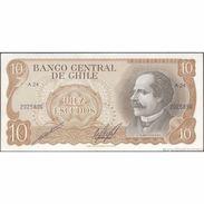 TWN - CHILE 143b - 10 Escudos 1976 Serie A 24 - Signatures: Cano & Molina UNC - Chili