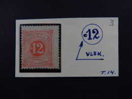 Stamp Sverige Sweden 12 Tolf Öre Lösen T.14  MH Unused Plate Error - Postzegels