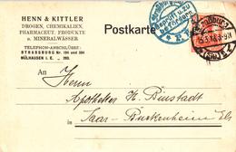 CP Affr Michel 99 Obl Straßburg / * (Els) 2 L Du 25.3.18 Perforé H & K = HENN & KITTLER - Perforés