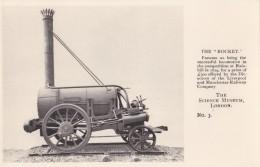 "AO33 Trains - Steam Locomotive ""The Rocket"" - Science Museum Postcard - Trains"