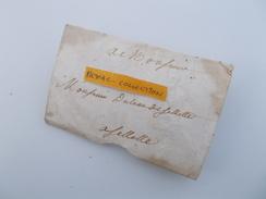 LETTRE AUTOGRAPHE 1739 Famille Dulau Celettes Mansle Charente Cachet De Cire à Déterminer (très Faible) - Marcophilie (Lettres)