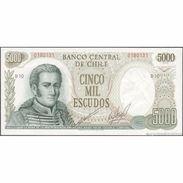 TWN - CHILE 147b1 - 5000 5.000 Escudos 1971 Serie B 10 - Signature: Cano & Molina AU - Cile