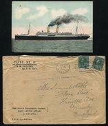 CANADA CRASH & WRECK EMPRESS OF IRELAND QUEBEC OHMS AMBULANCE GRIMSBY 1914 - Commemorative Covers