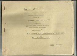 Marine Nationale -Notions D'Organisation Generale Et Du Personnel Commissaire De Marine CORNU (25 Pages) De Juillet 1960 - Boten