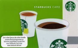GERMANIA  GIFT CARD STARBUCKS Coffe And Tea STB-6083-2012-1 - Cartes Cadeaux