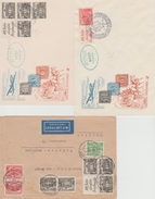 3 Briefen FDC 100 Jahre Briefmarken ??? - Berlin (West)