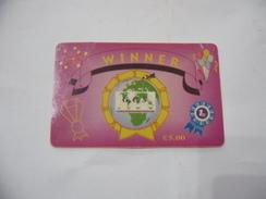 RICARICA TELEFONICA USATA STRANIERA WINNER CALLING CARD. - Schede Telefoniche