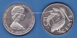BRITISH VIRGIN ISLANDS 1975  PROOF 50 CENTS  BIRDS PELICANS  SUPERB CONDITION - Iles Vièrges Britanniques
