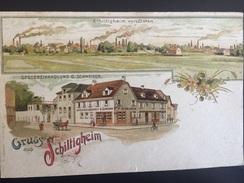 Rare : Grüss Aus Schiltigheim Avec Épicerie G. Schneider Vers 1900 - Schiltigheim