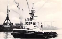 """ M.S. SCOUWENBANK "" ( NL ) N.V. Nieuve Rotterdams Sleepdienst - REMORQUEUR Tugboat Schlepper Sleepboot Remolcador - Rimorchiatori"