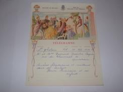 Télégramme Illustration De Buisseret.De Saint Ghislain Vers Quièvrain.Régie Télégraphes Et Téléphones. - Telegraph