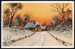 A8064 - Alte Glückwunschkarte - Künstlerkarte - Winterlandschaft - SBZ Aue 1947 - Weihnachten