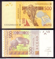 West African States NIGER 500 Francs 2012  PNew  UNС - West African States