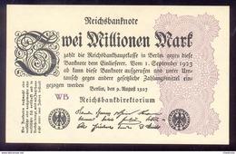 GERMANY 2 Millionen Mark 1923 P104c Weimar Republic UNC - 20 Millionen Mark