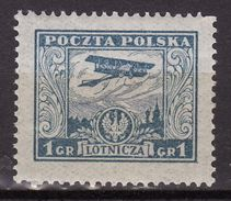 Poland 1925 Mi  224  Airmail MLH - 1919-1939 République