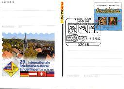 ALLEMAGNE Carte  PAP 2012  Cottbus Cyclisme Course Gymnastique - Ciclismo