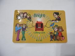 CARTA TELEFONICA PHONE CARD  BRIGHT. - Schede Telefoniche