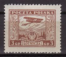 Poland 1925 Mi  226  Airmail MLH - 1919-1939 République