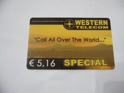 CARTA TELEFONICA PHONE CARD WESTERN TELECOM. - Schede Telefoniche