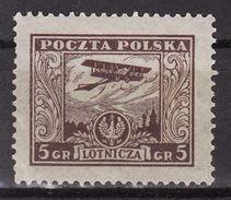 Poland 1925 Mi  227  Airmail MH* - 1919-1939 République