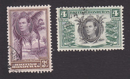 British Honduras, Scott #117-118, Used, Cohune Palm, Local Products, Issued 1938 - British Honduras (...-1970)