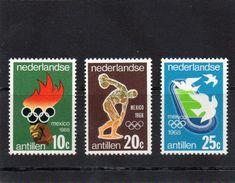 Nied. Antillen, 1968, Ol.-Spiele Mexiko, Michel 187/89, Postfrisch/**/MNH - Antillen