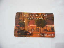 CARTA TESSERA KEY CARD SAN FRANCISCO PARC FIFTY FIVE HOTEL. - Schede Telefoniche