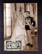 CARTE- MAXIMUM 1er JOUR (MARIAGE PRINCIER 8 AVRIL 1956) NEUF** - Maximumkarten (MC)