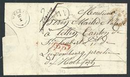 L 1843 Type 18 HABAY-LA-NEUVE + Boîte AW De Ville Tortu Pour Type 18 WELLIN - 1794-1814 (Période Française)