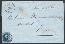 L Affr 20c Bleu P 135 SELZAETE/1864 Pour Deynze - 1863-1864 Medallions (13/16)