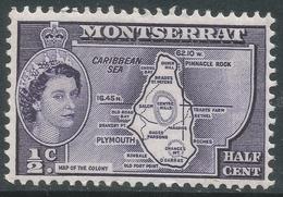 Montserrat. 1953-62 QEII. ½c (Type II) MH. SG 136b - Montserrat