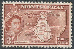 Montserrat. 1953-62 QEII. 3c (Type II) MH. SG 139a - Montserrat