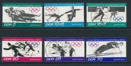 DDR 1971 Mi. 1725 - 1730 Gest. Olympische Winterspiele Sapporo 1972 Rodeln Eiskunstlauf Biathlon Skispringen Eisschnelll - [6] République Démocratique