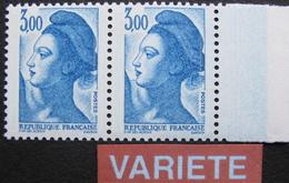 LOT 991 - TYPE LIBERTE DE GANDON - N°2329 (MAURY) NEUFS** - VARIETE ☛ DEFAUT D'ESSUYAGE : PAPIER BLEU - Errors & Oddities