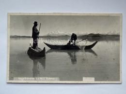 BOLIVIA LAGO TITICACA LA PAZ  Fisherman Boat Old Postcard  Indios - Bolivia